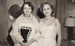 Margaret Truman and Annette Wright May: 1951