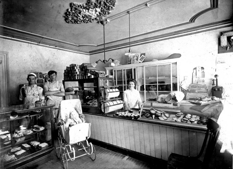 Schneid Bakery 1914 Shorpy Old Photos Vintage Photography