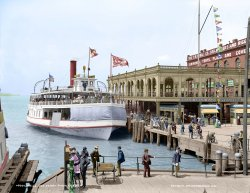 Belle Isle Ferry (Colorized): 1906