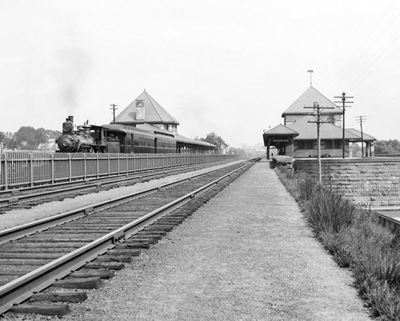 Brockton, Mass. Train Station: c.1905
