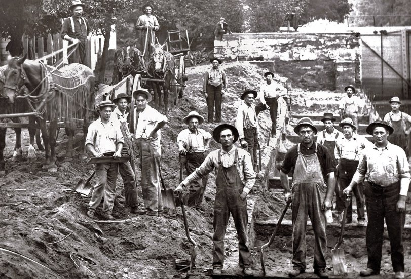 Portage Canal workers