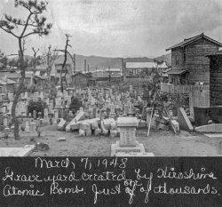 Hiroshima Graveyard: 1948