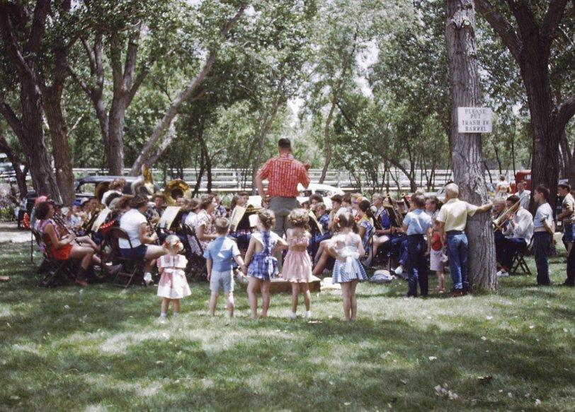 Children Enjoying the Band: 1953