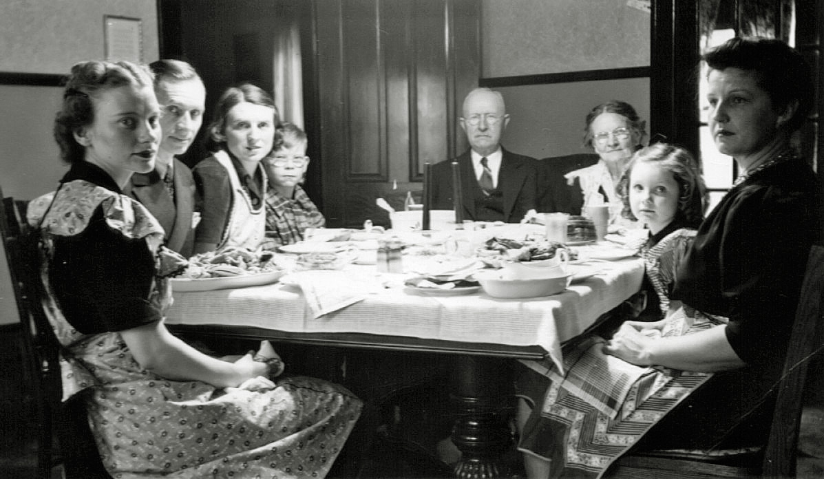 Shorpy Historic Picture Archive Christmas Dinner C1939 High Resolution Photo