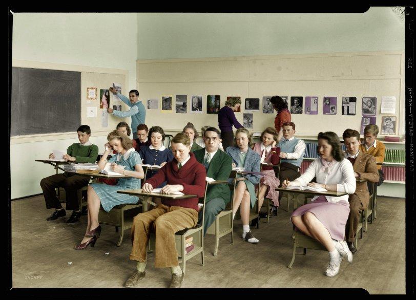 Class Portrait (Colorized): 1940