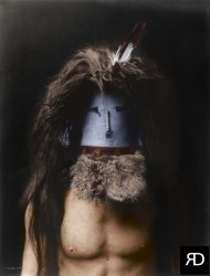 Navajo Mask (Colorized): 1905