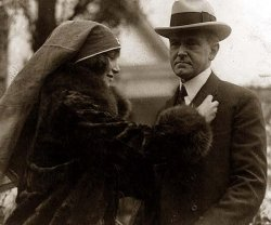 Janet Whitton Moffett with President Calvin Coolidge, 1926