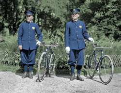 Cycle Cops (Colorized): 1918