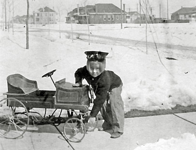 His first car: 1909