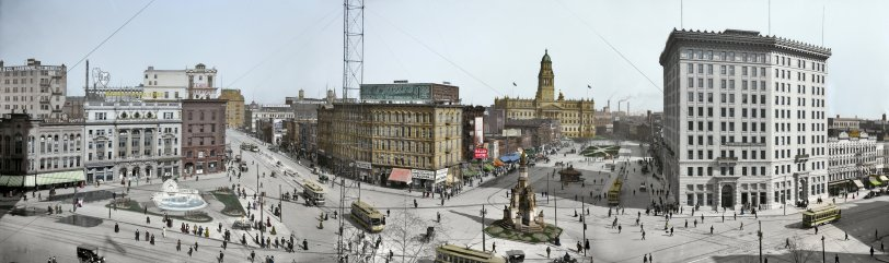 Detroit Panorama (Colorized): 1907