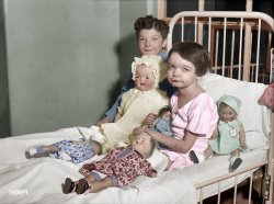 Doll Bed (Colorized): 1931