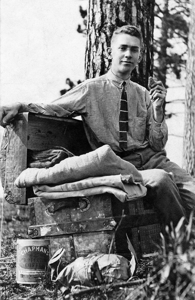 Camping Self-Portrait: c.1910