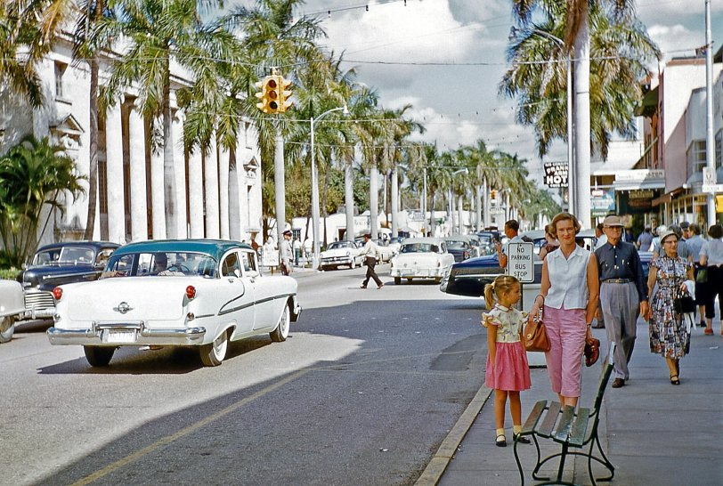 Downtown Fort Myers, Florida, 1956