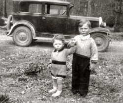 Dad and his brother, 1936