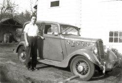 Carl Bangs, Jr. and His Car