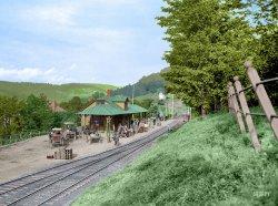 Fleischmanns Depot (Colorized): 1902