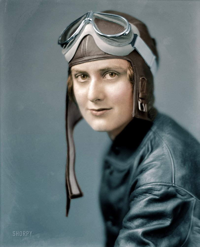 Aviatrix (Colorized): 1920