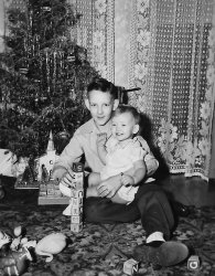 Gayl and Brother: 1948