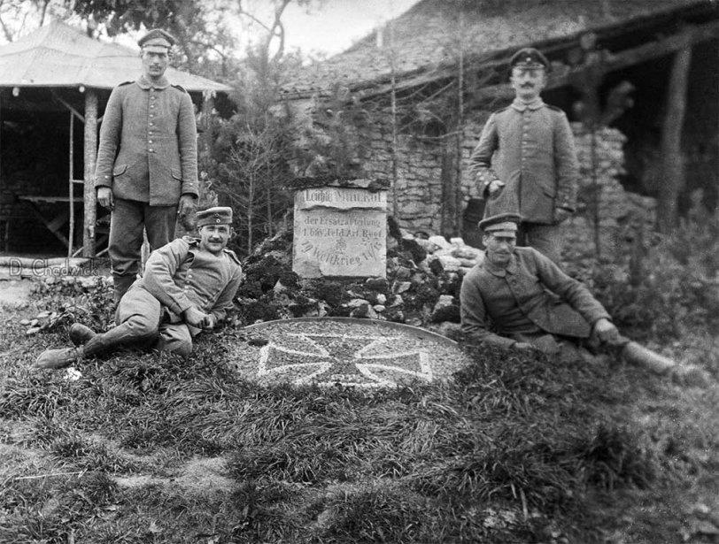 WWI German artillery veterans, 1919