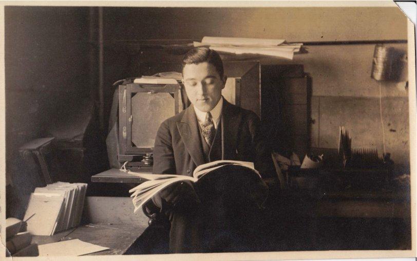 Grandpa in His Office at Vitagraph