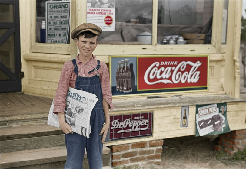 Grit 'n' Coke (Colorized): 1938