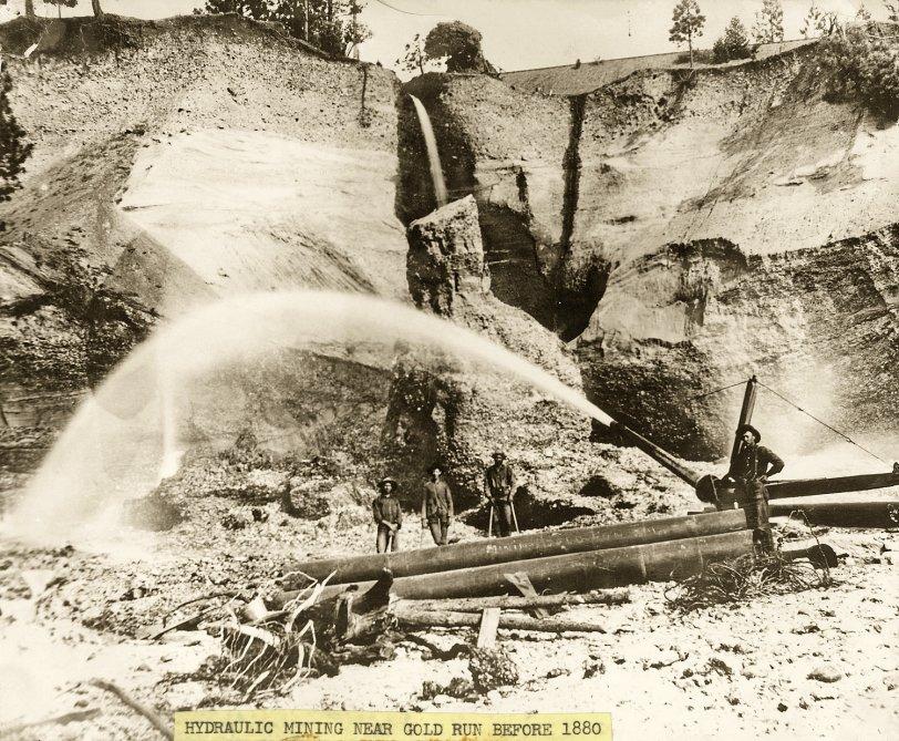 Hydraulic Mining Near Gold Run