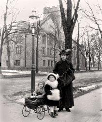 Winter stroll in Buffalo c. 1915