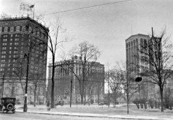 Detroit Grand Circus Park, approx 1920