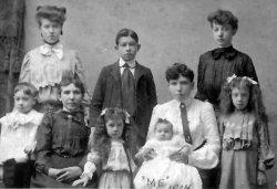 Ida with family, c. 1904