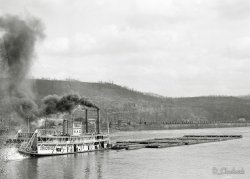 Sternwheel Tow Boat Ironsides: c.1910