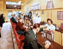 Jack's Sandwich Shop (Colorized): 1941