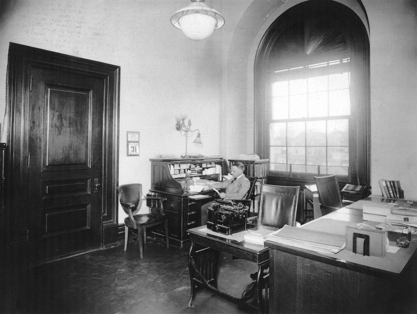 Uncle John's Office: 1931