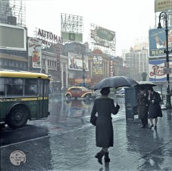 Rainy Day People (Colorized): 1943