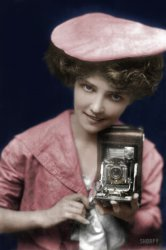 The Kodak Girl (Colorized): 1909