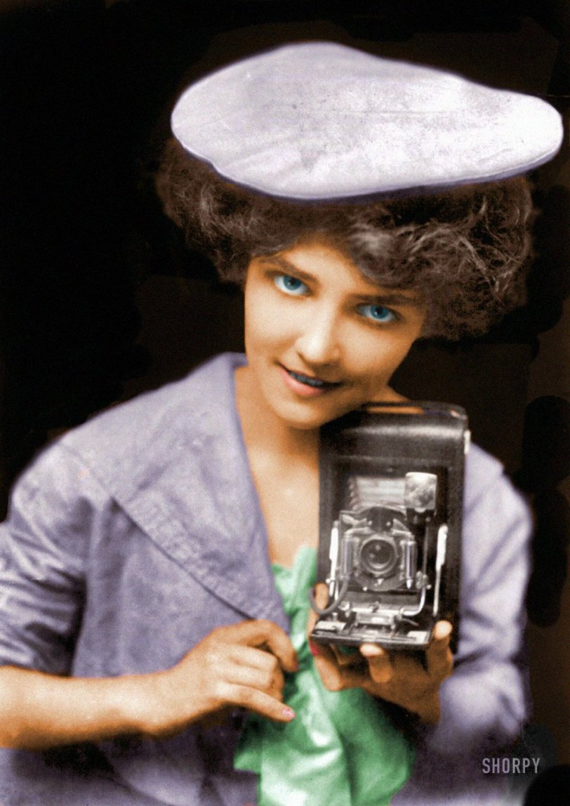 Kodak(chrome) Girl (Colorized): 1909