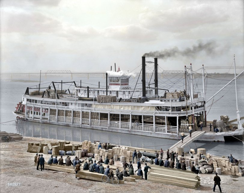 Louisville Levee (Colorized) 1905