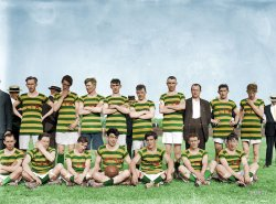 Gaelic Football Team  (Colorized): 1914