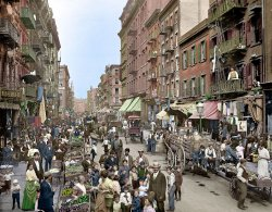 Little Italy (Colorized): 1900