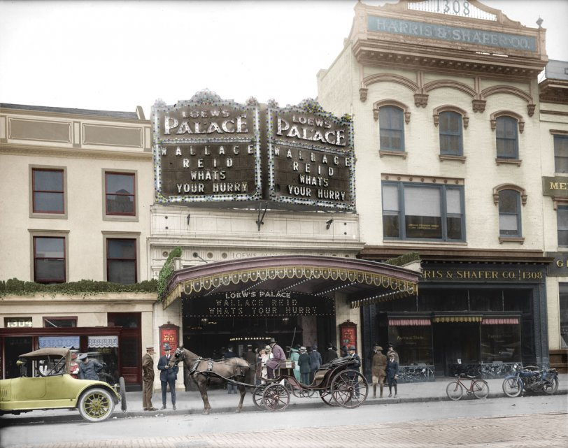Loews Palace (colorized): c. 1920