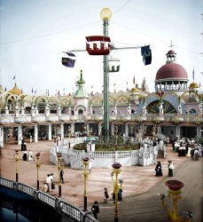 Luna Park (Colorized): 1905