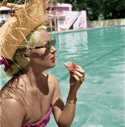 Lunch With Lana (Colorized): 1951