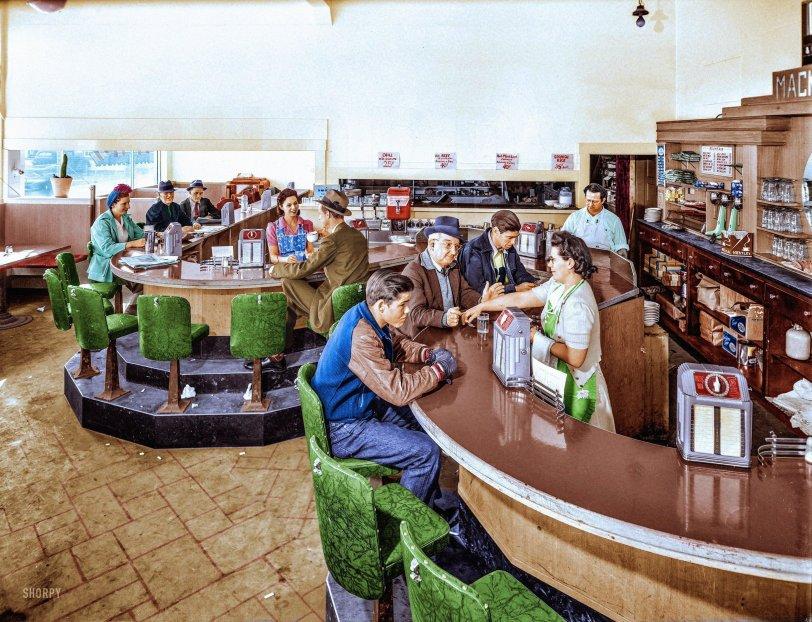 Mackey's Creamery (colorized):1943