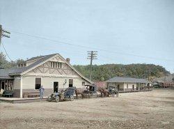 Magnolia Depot 1906 (Colorized)