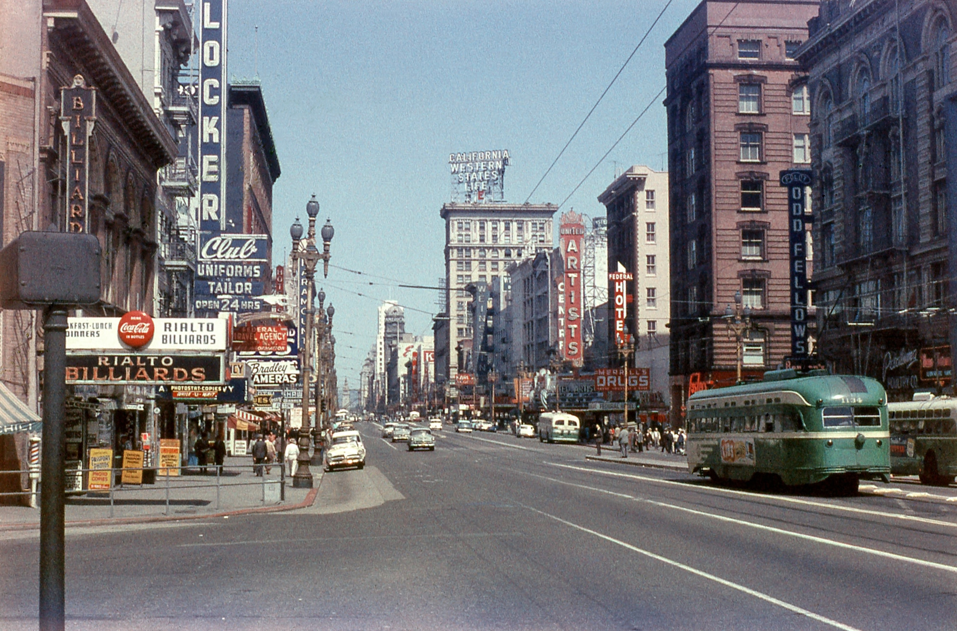 Shorpy Historic Picture Archive Market Street 1957