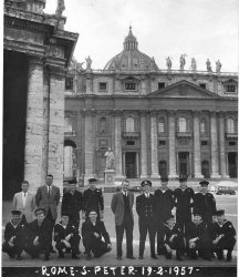 US Navy at St Peter's Rome 1957