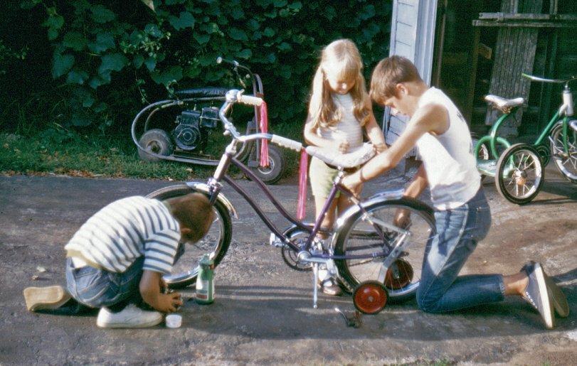 Fixing Up Li'l Sister's Bike