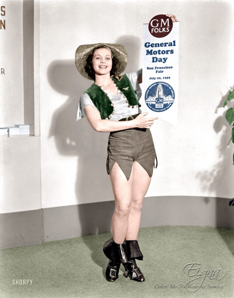Miss Fisher Body (Colorized): 1939