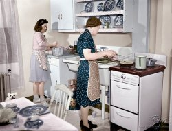 Modern Kitchen (Colorized): 1942