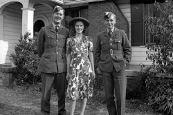 Mom with British Soldiers, WWII