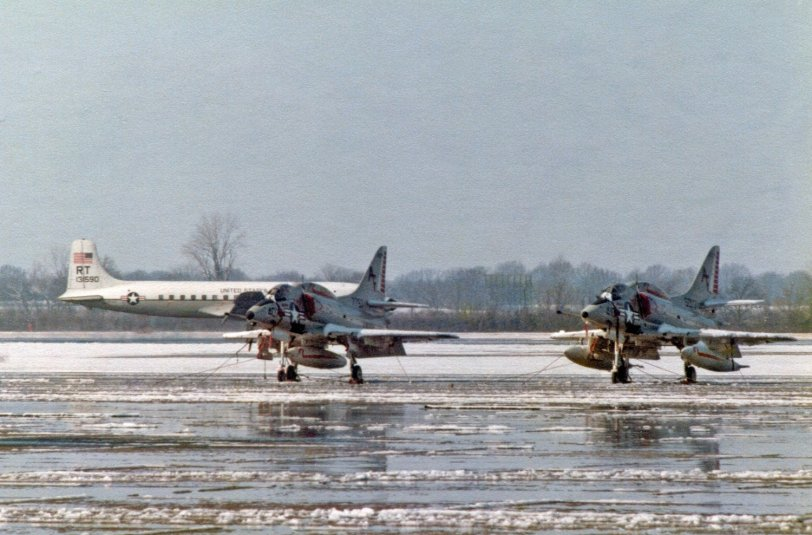 Sky Hawks in the Snow: 1977